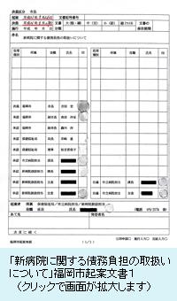 福岡市起案文書表